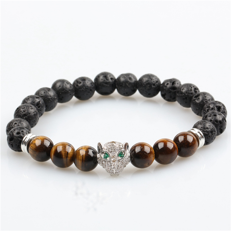 Natural Gemstone Beads Topaz Jade Beads Undyed Round Beaded Bracelet Braided Bracelet Finished Hot Sale in 2020, Wholesale Avail