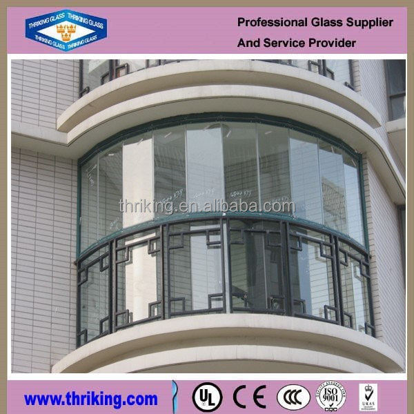 Thriking Glass Tempered balcony glass,glass balcony railing price,balcony railing design glass