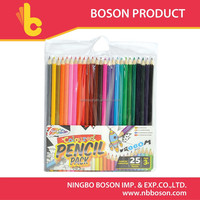 25 pcs fluorescent colored pencil