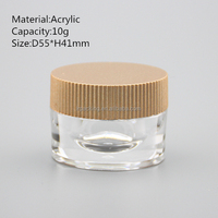 10g clear acrylic plastic cylinder pot
