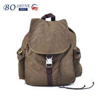 New design nylon backpack bag with metal buckle for student