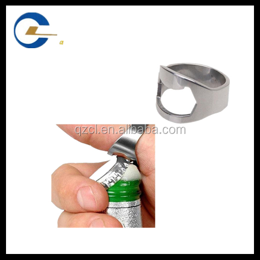 Excellent quality bottle openers stainless steel alloy finger ring beer bottle opener