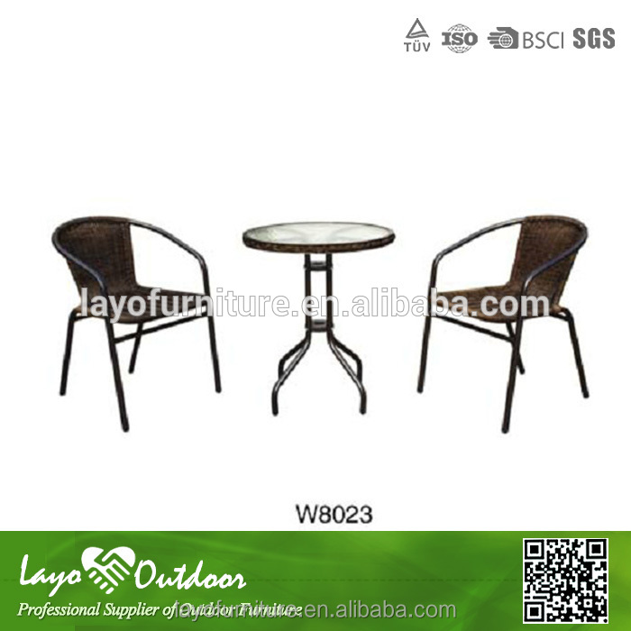Customized Factory good outdoor global furniture steel bistro furniture