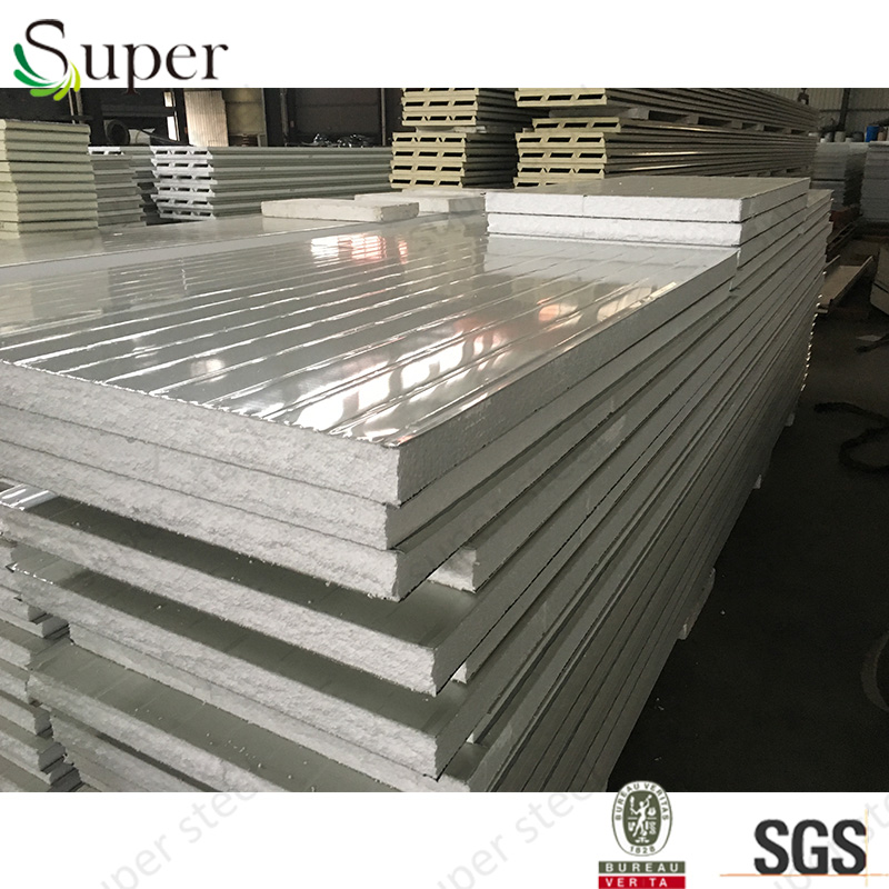 For prefab house galvanized steel eps pu sandwich wall panel