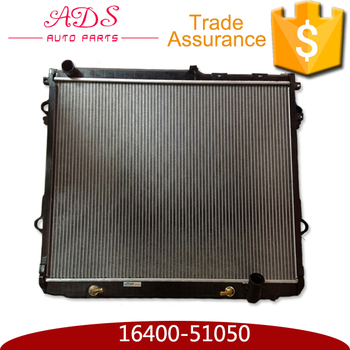 aluminium car radiator core for Toyota Land Cruiser UZJ200 VDJ200 GRJ200 with OEM 16400-51050