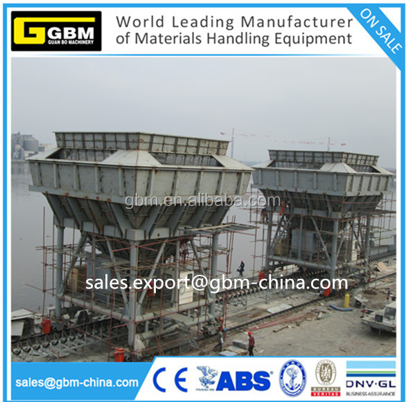 Dust-Trap mobile Hopper for Port Unloading Bulk Cargo