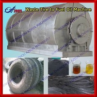 2014 green technology turn waste tyre to oil machine