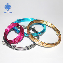 OEM wholesale colored round aluminum craft wire for diy decoration/bendable wire for crafts