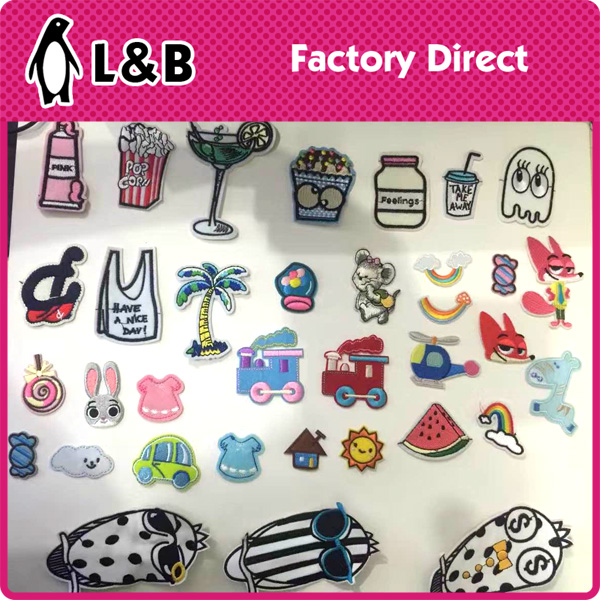 fashion embroidery technic colorful lovely pattern decorative embroidery 3D patch bagdes