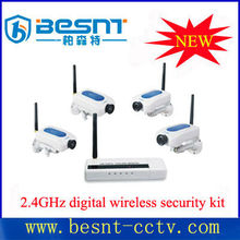 Newest besnt 2.4ghz digital wireless security kit 4ch receiving kit system BS-W208