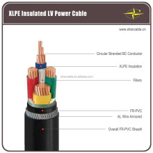 AL/XLPE/PVC Cable/ LV MV HV Steel Wire Armoured Power Cable Size