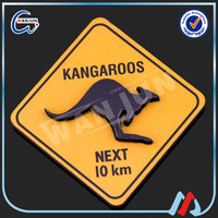wholesale blank 40x40mm fridge magnets,2D wooden kangaroo fridge magnet sticker