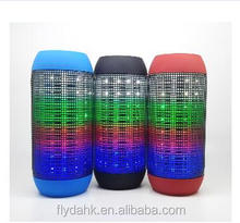 New design portable wireless mini led flash bluetooth speaker with long standby time speaker