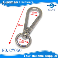 promotion common design O ring small double snap swivel hook for purse