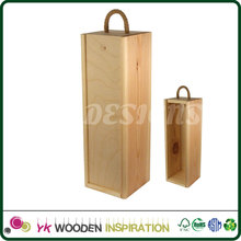 Wine Wooden Box carrier for picnic