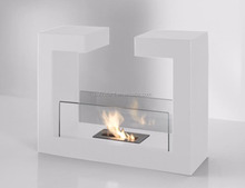 Bio ethanol fireplace freestanding VOG14 with stainless steel burner