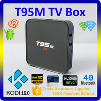 Alibaba China Supplier Google Android 5.1 Smart TV Box with Kodi Preloaded Amlogic S905 Quad Core T95M Android TV Box