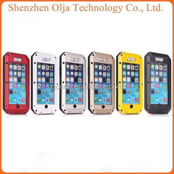 Aluminum Shockproof Gorilla Glass waterproof case for iphone5s, for iphone 5s waterproof case, for iphone 5 case waterproof