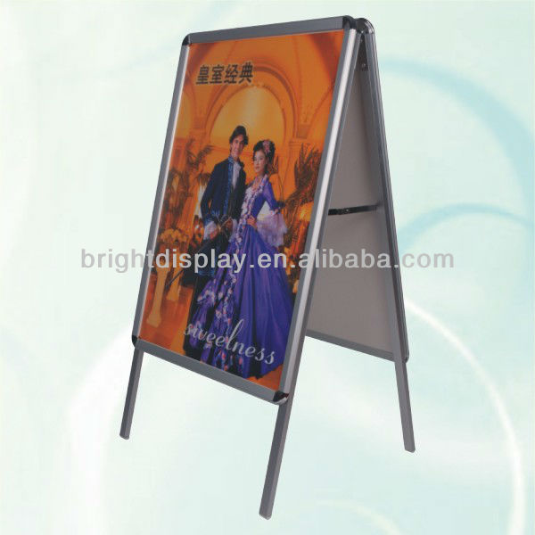 Double sides snap poster stand for adertising