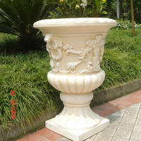 High quality white marble flower pot stone for decoration outdoor
