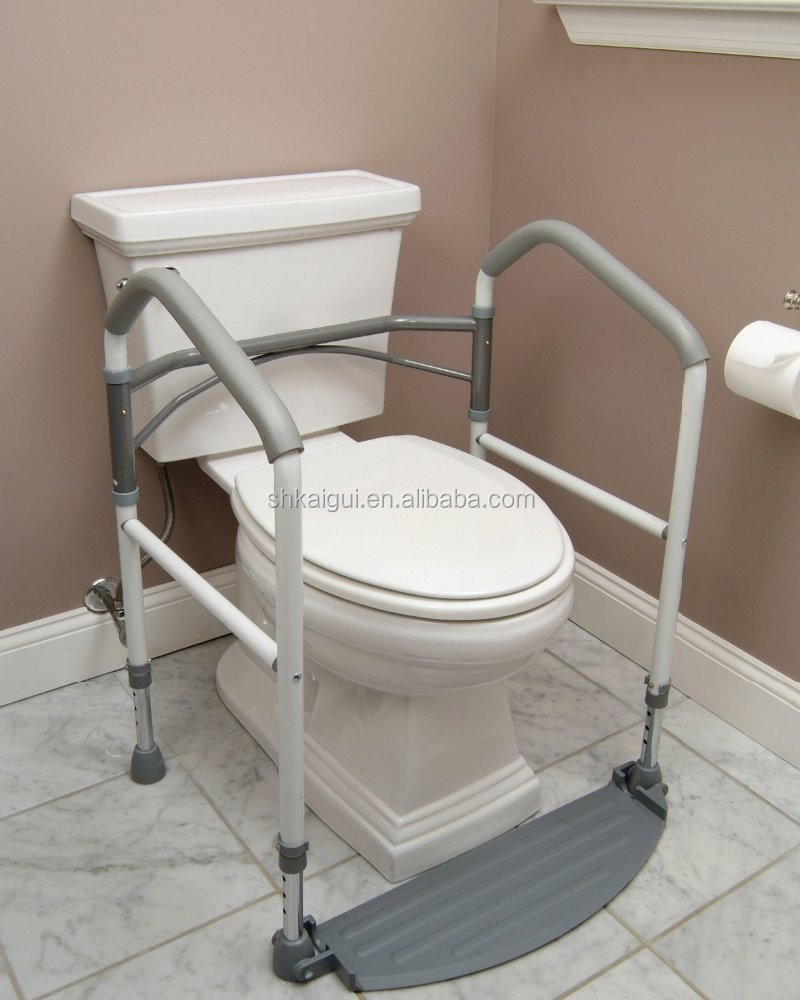 Folding Commodetoilet Aid Handrail With Footrest - Buy Commode ...