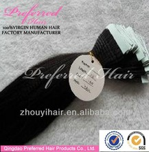 Hot sale factory price fast delivery human hair tape extension made in china