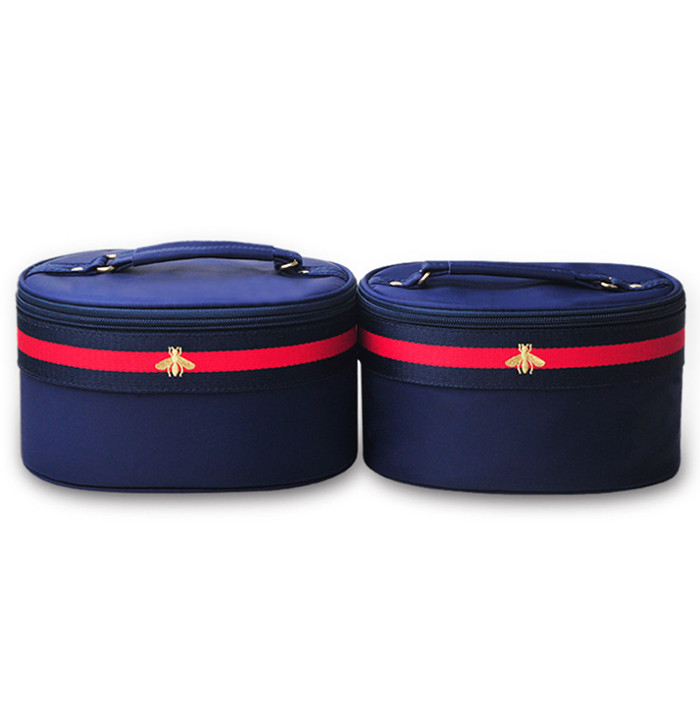 Manufacture customize round barrel shaped makeup organizer bag women cosmetic bag_15