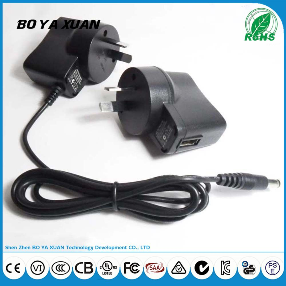 Universal UK plug USB power adapter 6V 1A 100-240V AC DC Power Supply For LED light