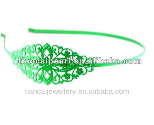 wholesale green color hair band hai hoop findings
