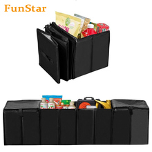 Car Trunk Organizer Auto Trunk Storage Container Foldable Cooler Bag