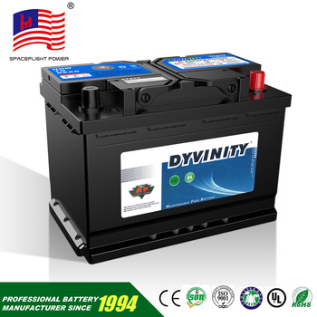 12v maintenance free Din series smf wet automobile car battery replacement backup