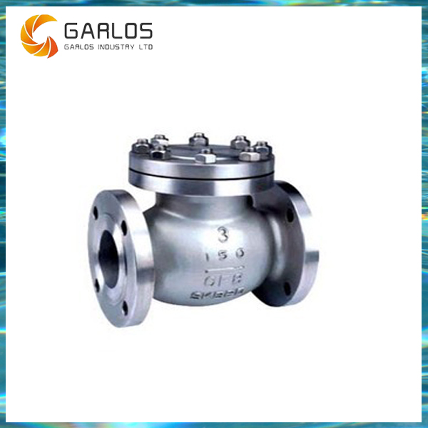 H44-2 50mm sewage flange type flap check valve