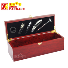 High-end Customized Single Wooden Wine Gift Box