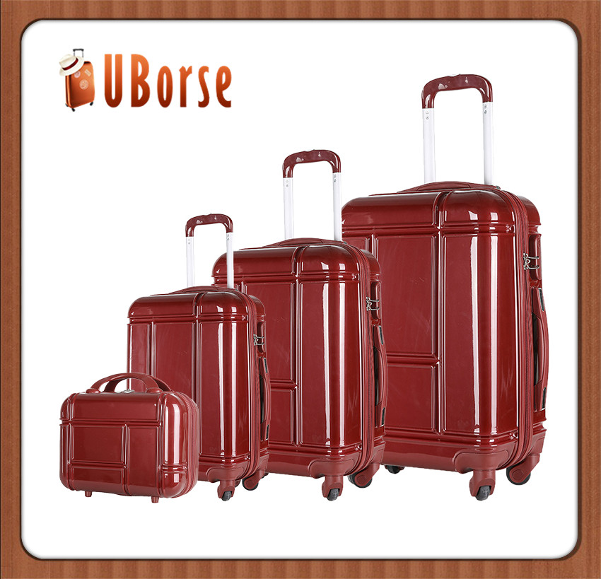 4PCS Spinner Travel Luggage Set Bag ABS PC Trolley Carry On Suitcase TSA Lock Red