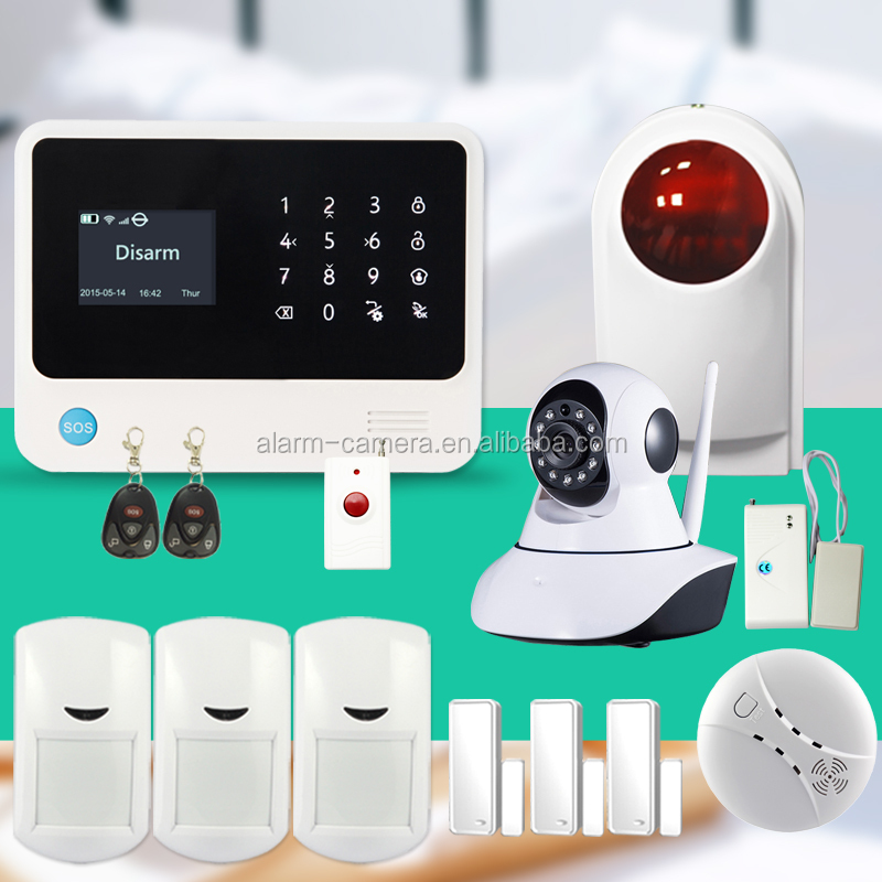 2016 hottest wifi gsm alarm system g90b free app control Spanish/Dutch/French language ,CE&FCC certification marked