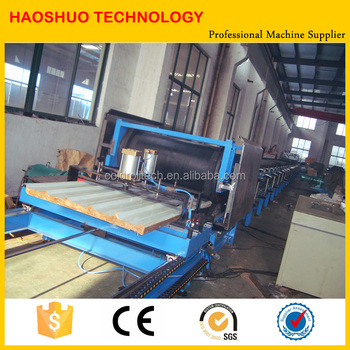 PU Sandwich Roof and Wall Panel Forming Machine Continuous Production Line