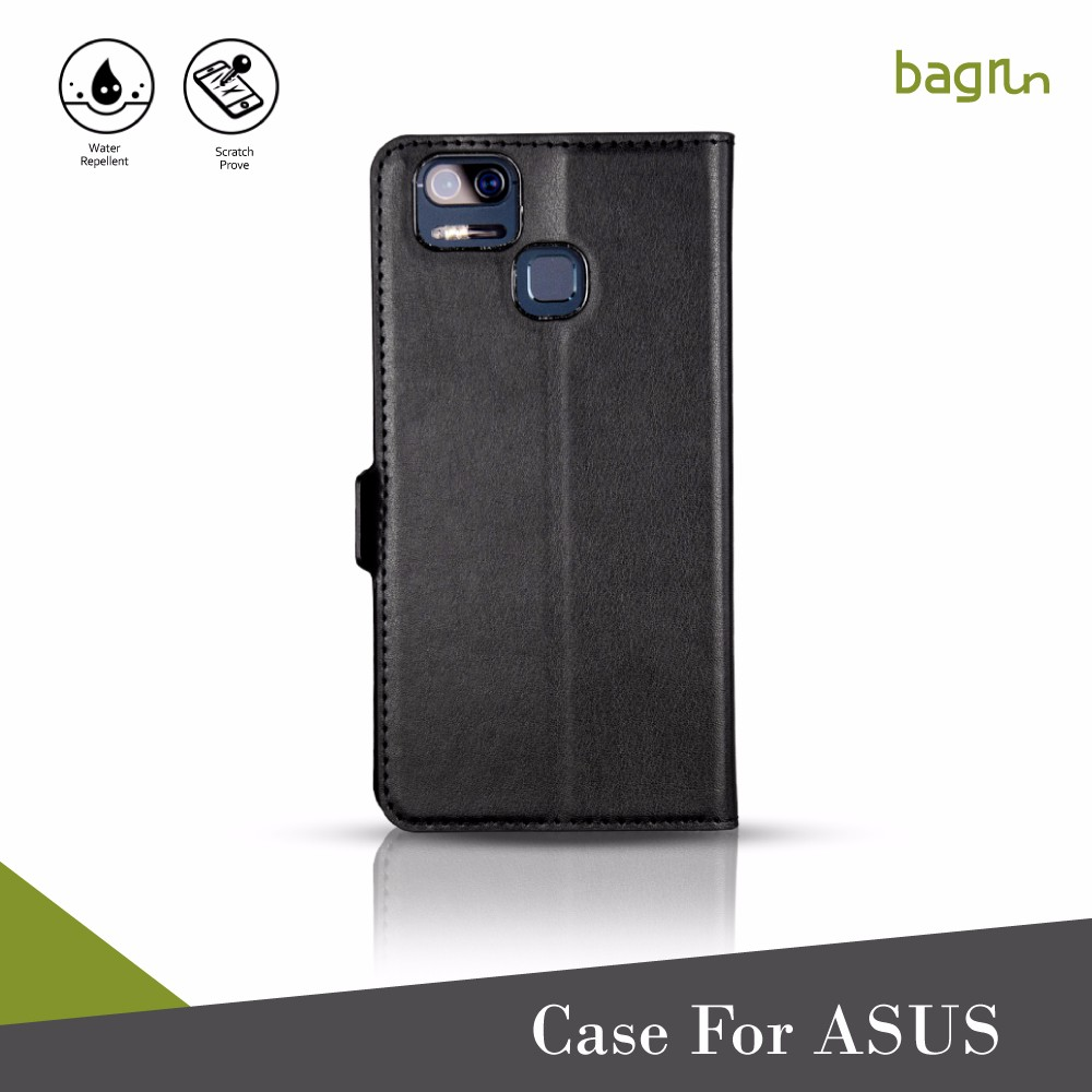 Customized Logo Book Flip Wallet Phone Case For ASUS