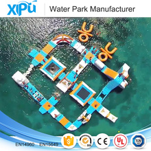 2017 amusement activity giant inflatable water splash park on the sea