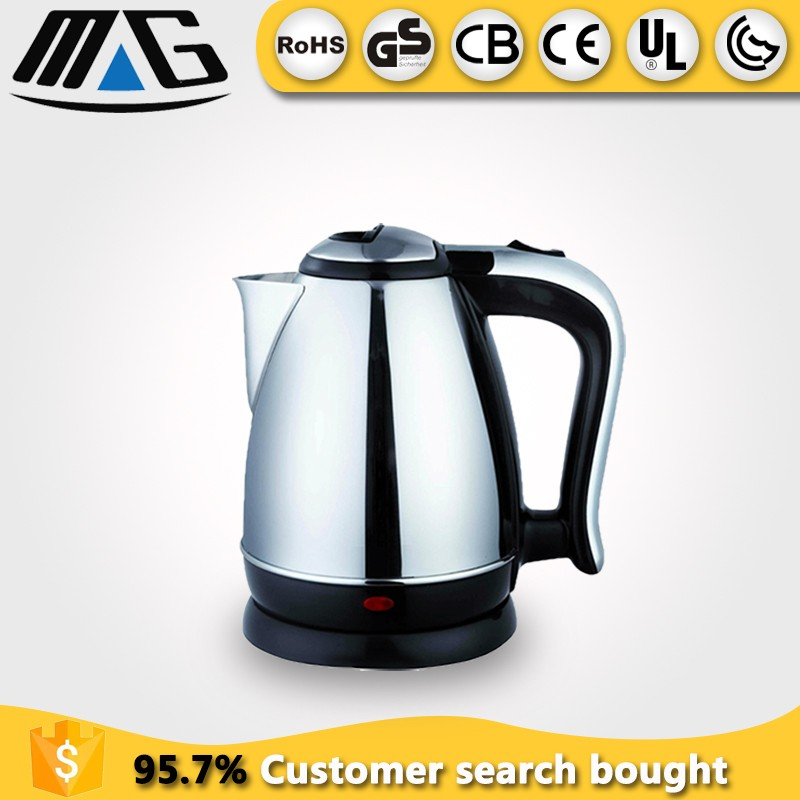 220v home appliances high quality CE GS CB ROHS cordless stainless steel electric kettle