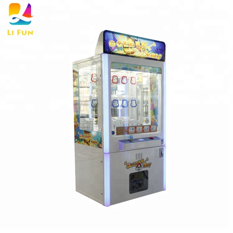 Guangzhou key master game machine with bill acceptor/Golden Key redemption prize vending machine amusement arcade game machine