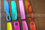 india made colorful plastic wide tooth comb, big comb, hair straightening comb