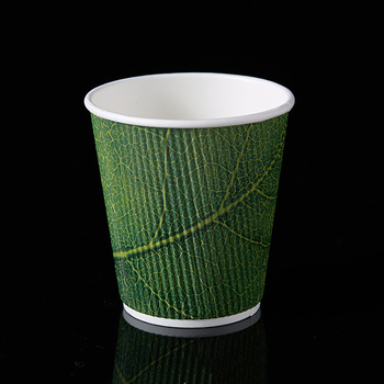Wholesale disposable ripple wall paper cups with printing