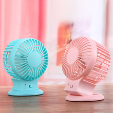 Cheap price 2 speeds small rechargeable table fan with 800mAh Battery