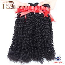 long lasting malaysian afro kinky curl sew in hair weave