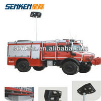 new designed Fire trucks 4.5m high mast telescopic tower light and high mast lighting system