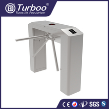 High quality electronic outdoor access control semi-automatic waist height tripod turnstile gate