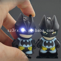 Custom made 2.5 inch fashion light up led luminous keychain 3d pvc keyring for kids