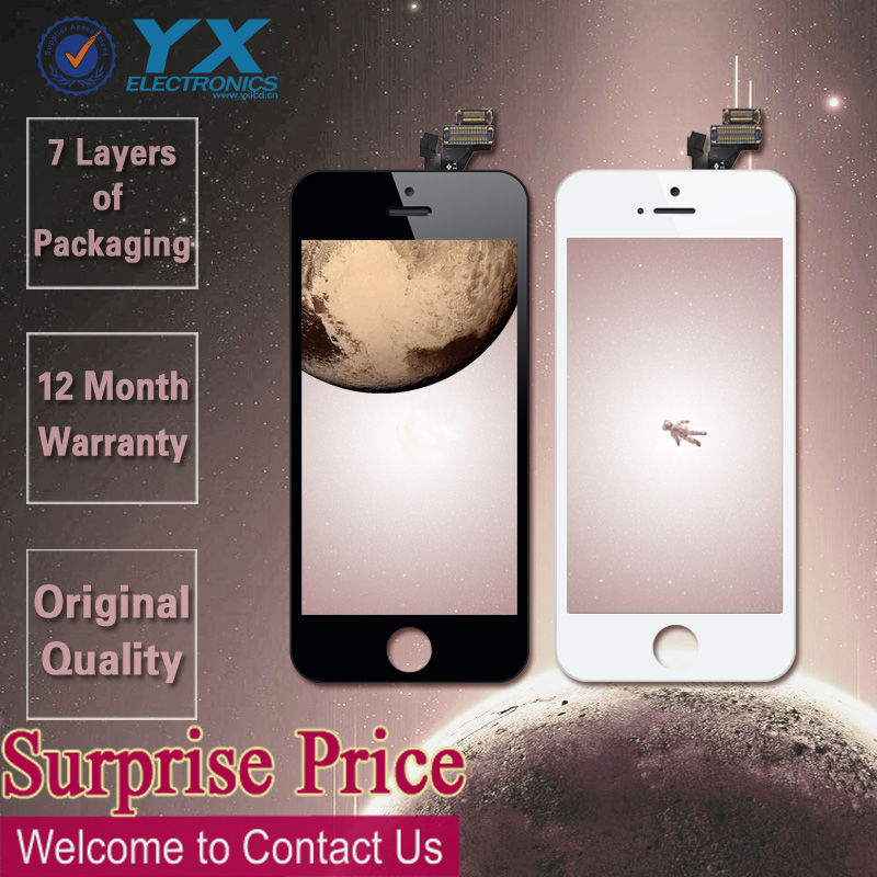 10percent discount! Factory Supplier!!! For LCD iPhone 5,For iPhone 5 LCD Screen Display Assembly,For iPhone 5 LCD Display