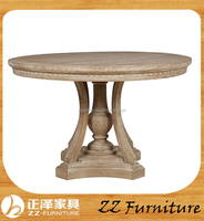 French Style Wooden Round Dining Table Sets