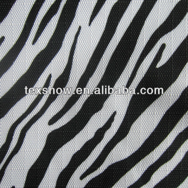 Fashionable zebra strip printing polyester oxford fabric